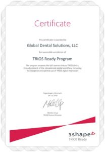 3Shape TRIOS Ready Certification for Global Dental Solutions